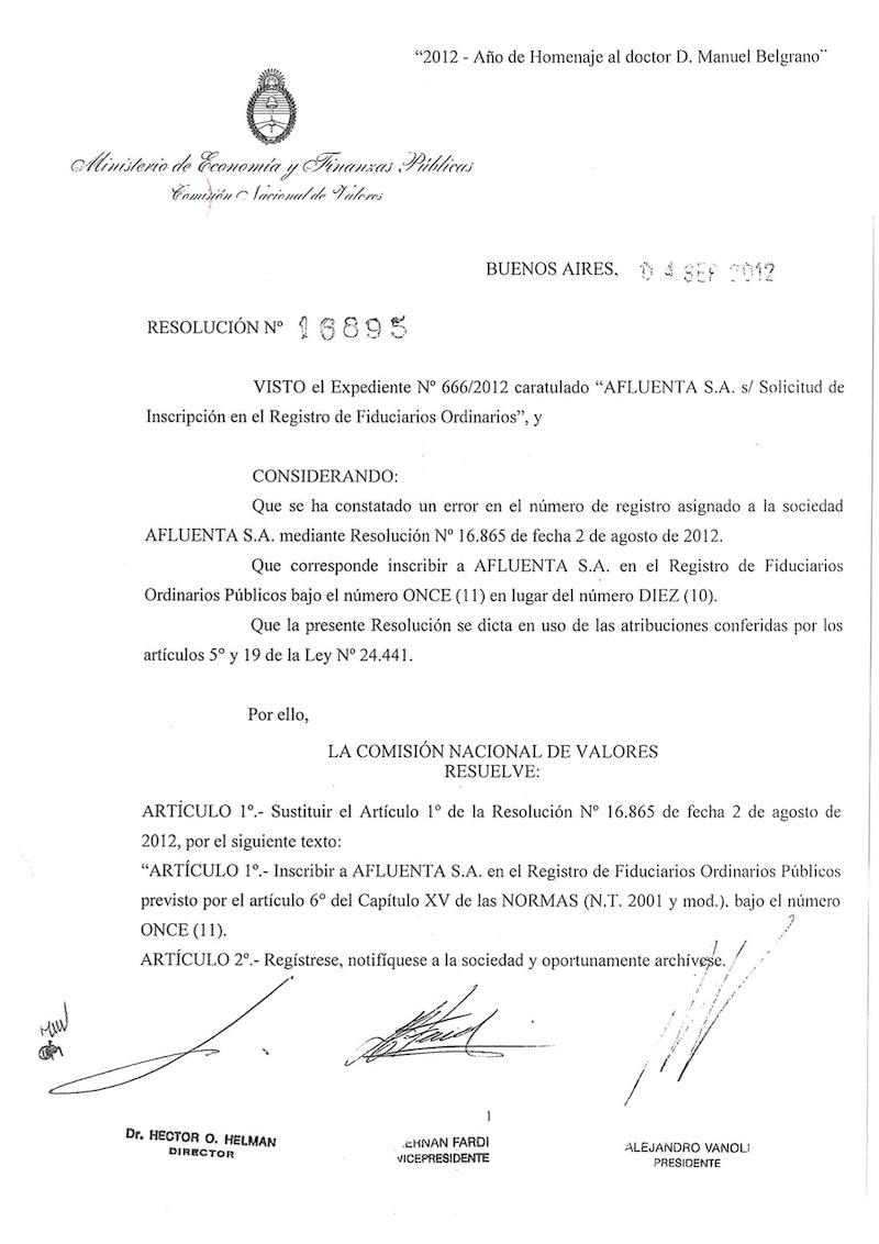 Inscripción CNV